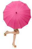 Umbrella with legs Royalty Free Stock Images
