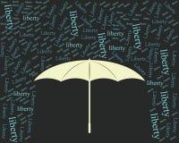 Liberty umbrella  vintage Royalty Free Stock Photography