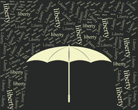 Liberty umbrella vintage black Royalty Free Stock Photo