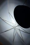 Umbrella lighted lamp royalty free stock image