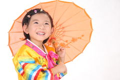 UMBRELLA LITTLE GIRL Royalty Free Stock Photo