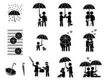 Umbrella of love Stock Image