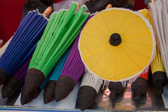 Umbrella made ​​of paper / fabric. Arts Stock Images
