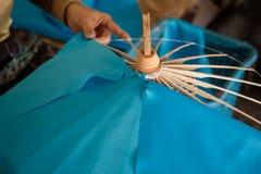 Umbrella made of paper / fabric. Arts Stock Photo