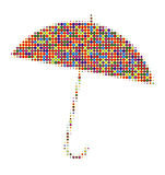 Umbrella with many colors Stock Images