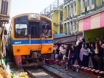 Umbrella Market Maeklong Railway Market Thailand Stock Images