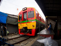 Umbrella Market Maeklong Railway Market Thailand Royalty Free Stock Images