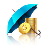 Umbrella and money. Stock Images