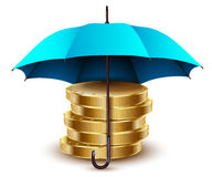 Umbrella and money. Stock Image