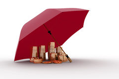 Umbrella and money Stock Images