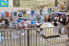 Umbrella movement in Causeway Bay Royalty Free Stock Image
