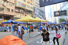 Umbrella movement in Causeway Bay Royalty Free Stock Images