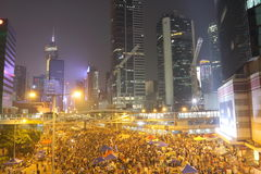Umbrella Movement in Hong Kong Stock Images
