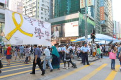 Umbrella Movement in Hong Kong Stock Photography