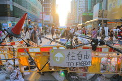 Umbrella Movement in Hong Kong Royalty Free Stock Image