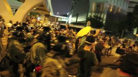 Umbrella Movement in Hong Kong. The Occupy Central movement start on 28 Sep 2014, announced the beginning of Occupy Central at the Central Government Complex at