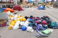 Umbrella Movement in Hong Kong Stock Image