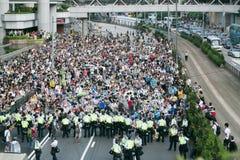 Umbrella Movement in Hong Kong Royalty Free Stock Photography