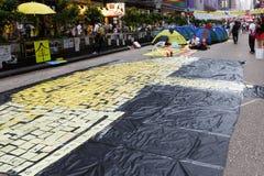 Umbrella Movement in Hong Kong Stock Photo