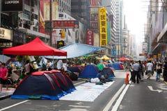 Umbrella Movement in Hong Kong Stock Photos