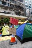 Umbrella Movement in Hong Kong Royalty Free Stock Photos