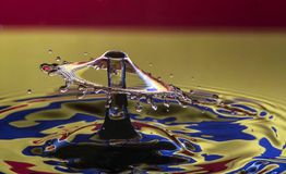 Umbrella in multicolors. Waterdrop photography wih two Stock Photo