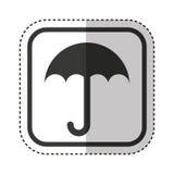 Umbrella packing symbol icon. Illustration design Stock Photo