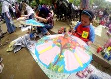 Umbrella painting Royalty Free Stock Photos