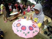 Umbrella painting Royalty Free Stock Photography
