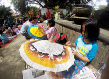 Umbrella painting Royalty Free Stock Image