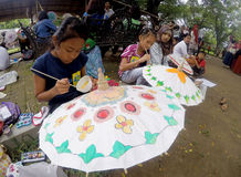 Umbrella painting Royalty Free Stock Photo