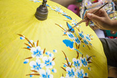 Umbrella painting Stock Images