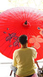 Umbrella painting Royalty Free Stock Photo