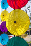 Umbrella. Paper umbrella made ​​of hand-crafting ,Chiang Mai north of Thailand Royalty Free Stock Photo