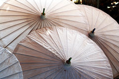 Umbrella pattern. Traditional umbrella pattern - umrella making factory Royalty Free Stock Photography