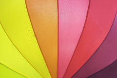 Umbrella pattern   background. Closeup rainbow colored summer umbrella pattern   background Royalty Free Stock Photos