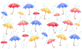 Umbrella pattern illustration Royalty Free Stock Photography