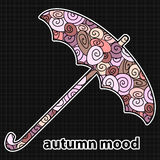 Umbrella with pattern Stock Photo