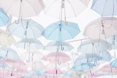 Umbrella pattern pastel. Umbrella pattern with pastel color tone Royalty Free Stock Image