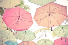 Umbrella pattern pastel. Umbrella pattern with pastel color tone Royalty Free Stock Images