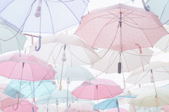 Umbrella pattern pastel. Umbrella pattern with pastel color tone Stock Photography