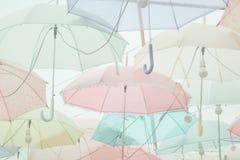 Umbrella pattern pastel Royalty Free Stock Image