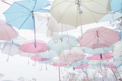Umbrella pattern pastel. Umbrella pattern with pastel color tone Stock Image