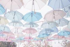 Umbrella pattern pastel Royalty Free Stock Photos