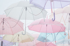Umbrella pattern pastel. Umbrella pattern with pastel color tone Royalty Free Stock Photos