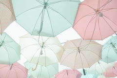 Umbrella pattern pastel. Umbrella pattern with pastel color tone Stock Images