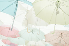 Umbrella pattern pastel. Umbrella pattern with pastel color tone Royalty Free Stock Photography