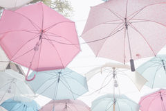 Umbrella pattern pastel Stock Photos