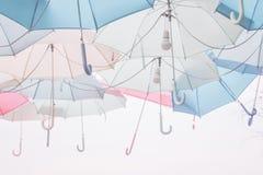Umbrella pattern pastel. Umbrella pattern with pastel color tone Stock Photo