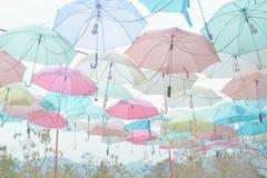 Umbrella pattern pastel. Umbrella pattern with pastel color tone Stock Photos